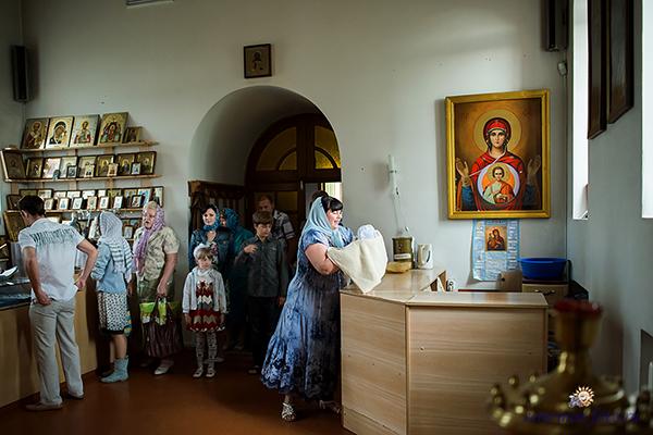 Таинство Крещения Веры в храме апостола Иакова, брата Божия в г.Губкин, Белгородской области