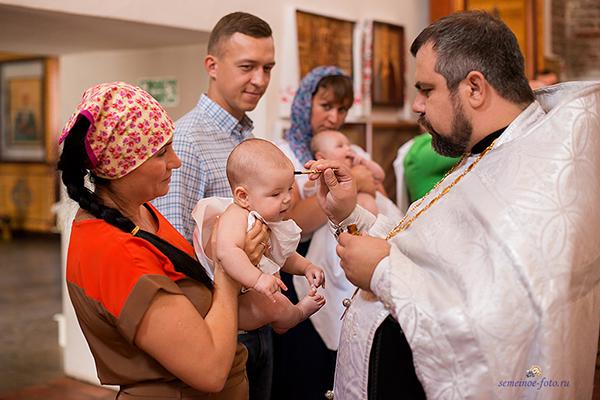 Крещение Виталины в Успенском-Адмиралтейском храме г. Воронеж