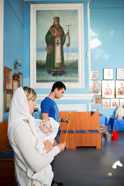 Крещение Артёма в церкви Казанской иконы Божией Матери в селе Латное (Воронеж)