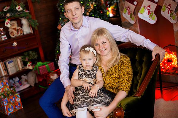 Яркий Новый Год для Верочники и ее родителей