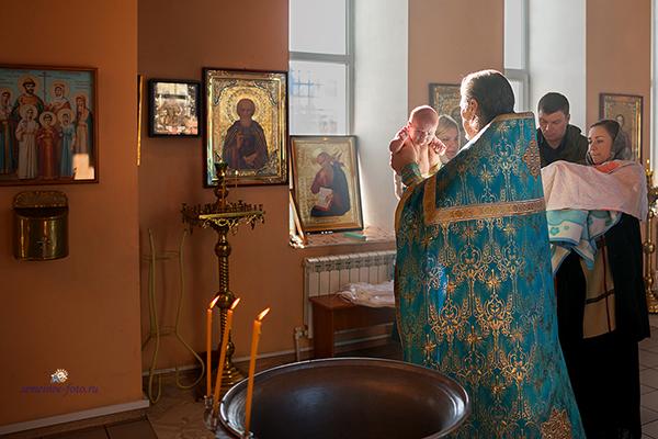 Крещение Даниила и Софии в церкви Покрова Пресвятой Богородицы с.Хлевное