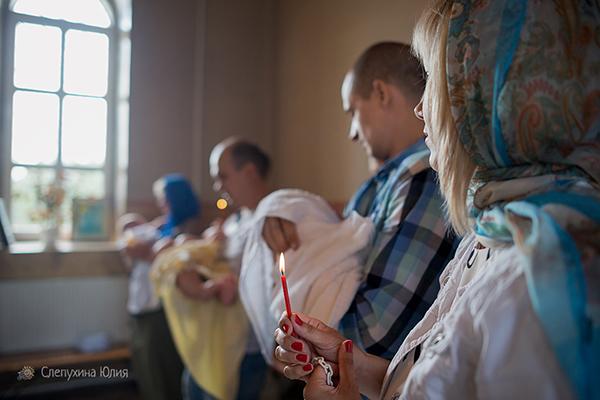 Таинство Крещения Михаила в храме Петра и Павла (Воронеж, с. Масловка)