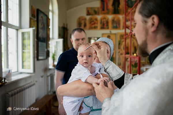 Таинство Крещения Егора в церкви Иоанна Богослова. Воронеж, с. Петино