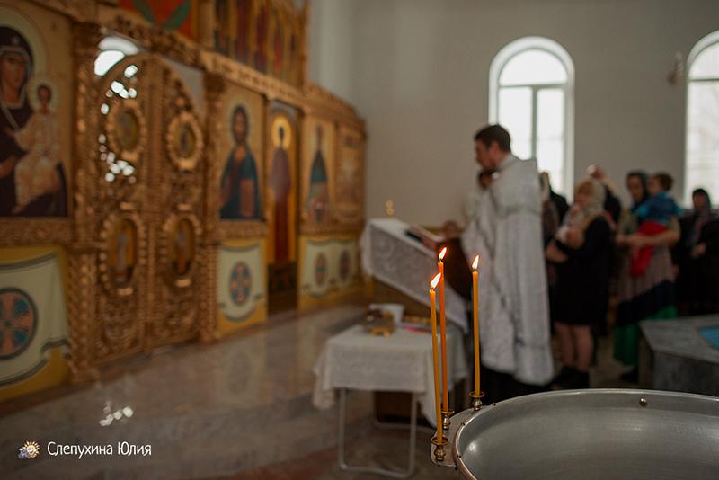 Таинство Крещения Андрея в крестильном храм Иоанна Богослова. Воронеж