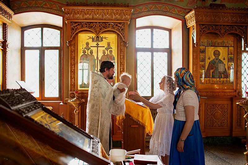 Таинство Крещения Полины. Покровский собор, Воронеж